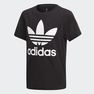 T-Shirt Adidas Nera e Bianca Bambini Trefoil Oversize art. DV2905