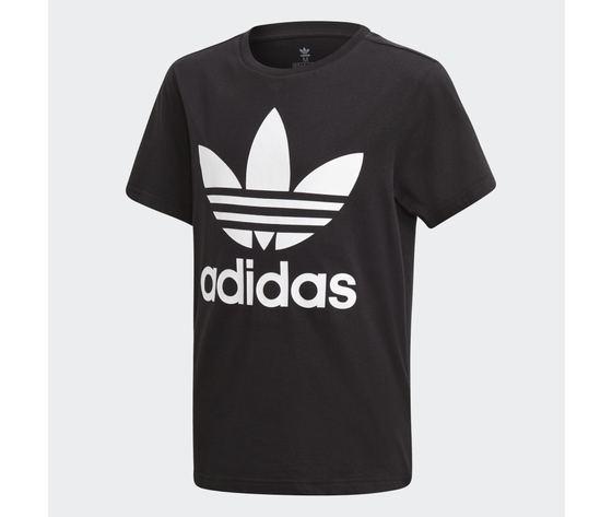 T shirt adidas nera e bianca bambini trefoil oversize art. dv2905