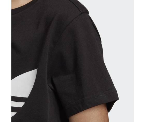 T shirt adidas nera e bianca bambini trefoil oversize art. dv2905 2