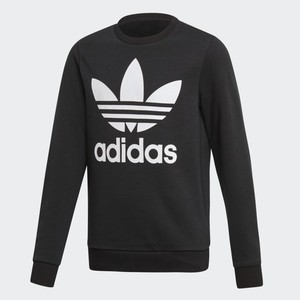 Felpa Nera Ragazzi Girocollo Adidas Originals Trefoil Crew art. ED7797