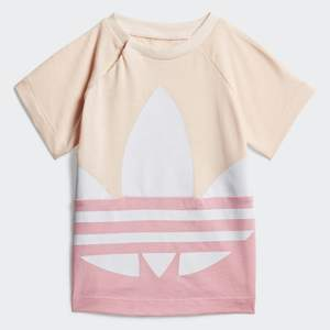 T-Shirt Bambina Rosa e Bianca Adidas Originals Large Trefoil art. GD2633
