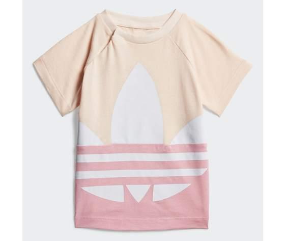 T shirt bambina rosa adidas originals large trefoil art. gd2633