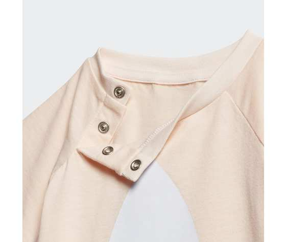 T shirt bambina rosa adidas originals large trefoil art. gd2633 2
