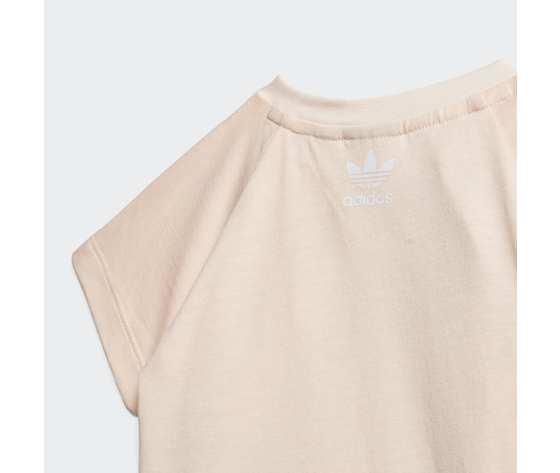 T shirt bambina rosa adidas originals large trefoil art. gd2633 4