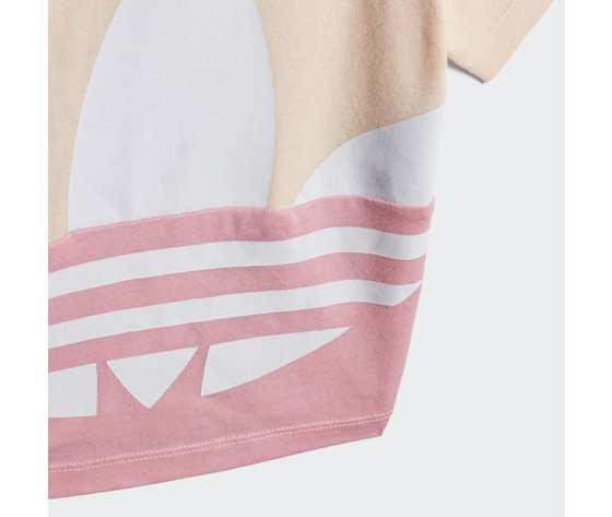 T shirt bambina rosa adidas originals large trefoil art. gd2633 3