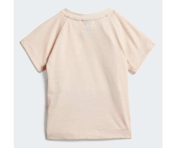 T shirt bambina rosa adidas originals large trefoil art. gd2633 1