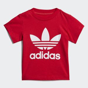 T-Shirt Bambino Rossa Adidas Originals Trefoil Oversize art. GD2635