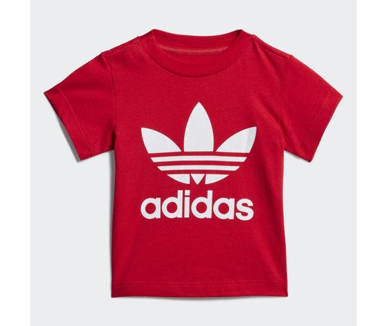 T shirt bambino rossa adidas originals trefoil oversize art. gd2635