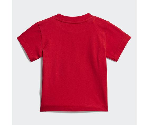 T shirt bambino rossa adidas originals trefoil oversize art. gd2635 1