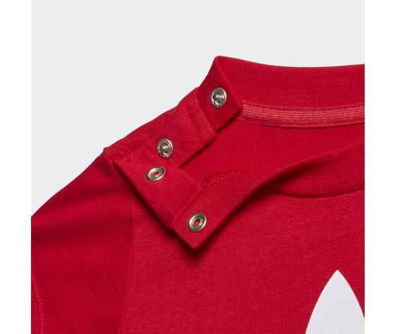 T shirt bambino rossa adidas originals trefoil oversize art. gd2635 2