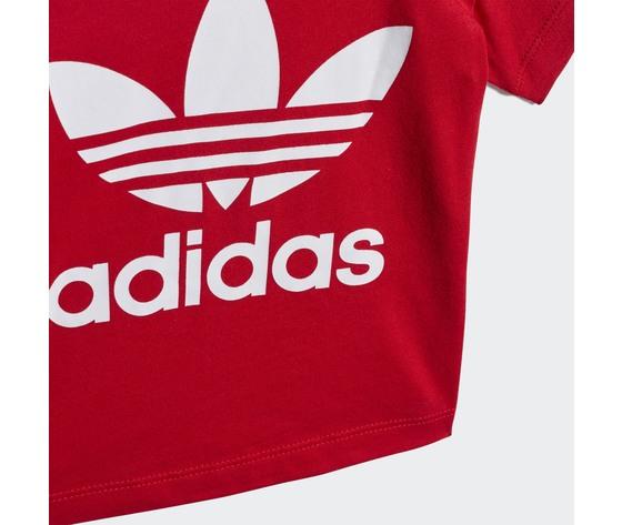 T shirt bambino rossa adidas originals trefoil oversize art. gd2635 3