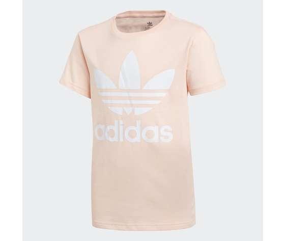 T shirt rosa e bianca bambina adidas original trefoil art. gd2681