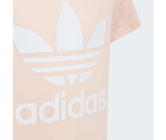 T shirt rosa e bianca bambina adidas original trefoil art. gd2681 1