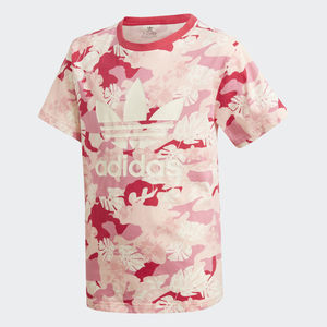 T-Shirt Bambina Fantasia Rosa Bianco Adidas Originals Cream White / Easy Pink / Multicolor art. GD2874