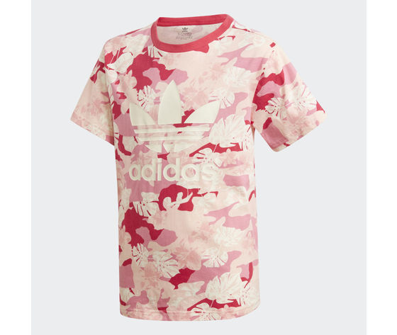 T shirt bambina fantasia rosa bianco adidas originals cream white  easy pink  multicolor art. gd2874