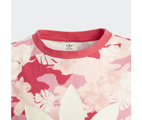 T shirt bambina fantasia rosa bianco adidas originals cream white  easy pink  multicolor art. gd2874 1