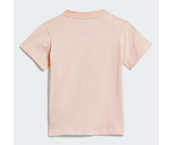 T shirt bambina rosa stampa floreale adidas originals trefoil tee haze coral multicolor art. gd2887 4