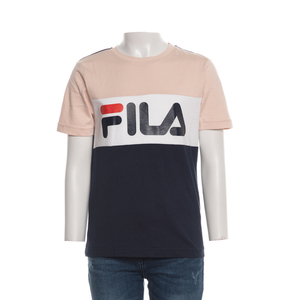 T shirt Bambina Fila Cipria/Bianco/Blu Teens Unisex Marina Multicolor art. 688141 A898