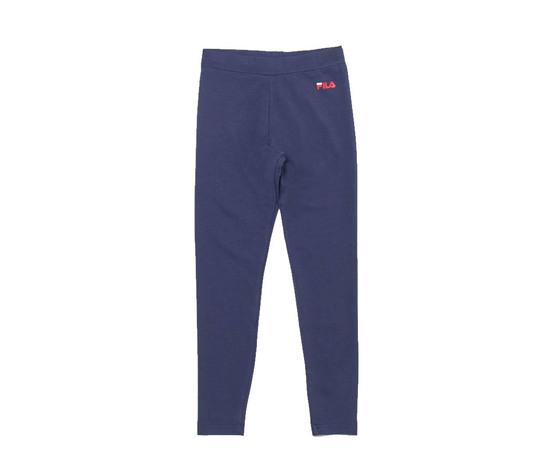 Leggings ragazza blu fila maxi logo rosso antonella tessuto art. 688155 170