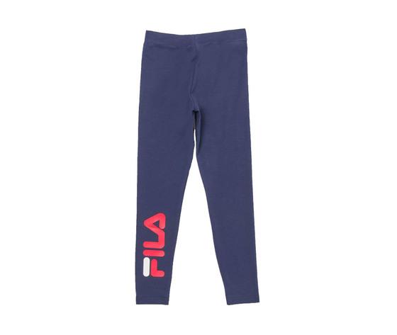 Leggings ragazza blu fila maxi logo rosso antonella tessuto art. 688155 170 1