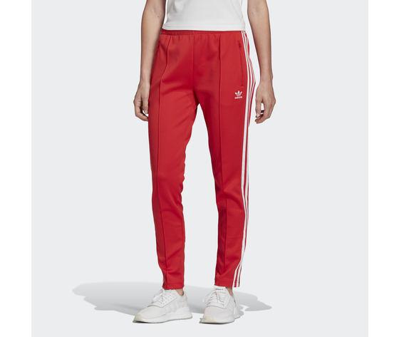 Pantalone donna rosso adidas track pants sst strisce laterali bianche art. fm331955