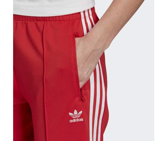 Pantalone donna rosso adidas track pants sst strisce laterali bianche art. fm3319