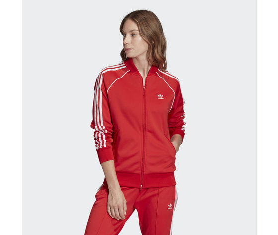 Giacca donna rossa adidas originals track jacket sst art. fm3313