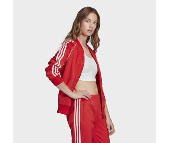 Giacca donna rossa adidas originals track jacket sst art. fm3313 3