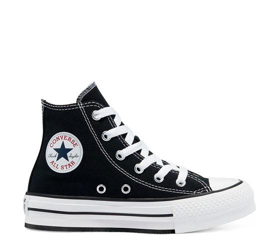 Converse donna tela nere platform color eva chuck taylor all star high top jr art. 671107c