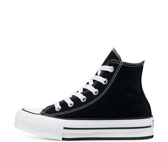 Converse donna tela nere platform color eva chuck taylor all star high top jr art. 671107c 1
