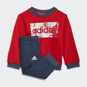 Adidas Essentials Completo Bambino Rosso Blu Felpa e Pantaloni art. GN3950
