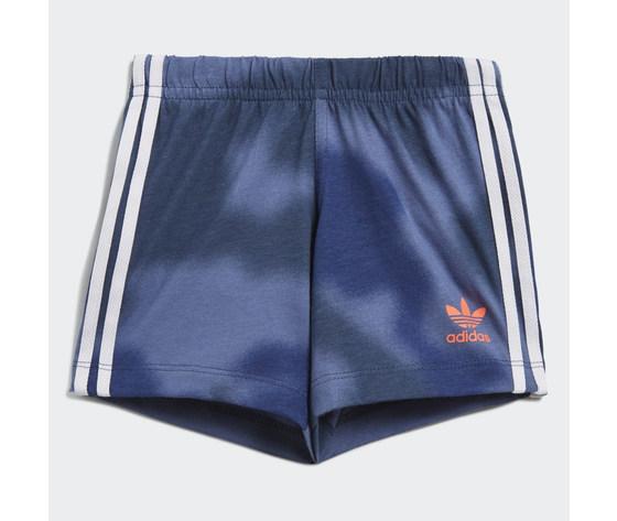 Adidas originals completo bambino t shirt pantaloncino blu e bianco large trefoil camo print art. gn4110 3