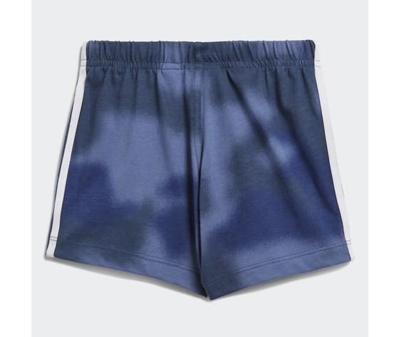 Adidas originals completo bambino t shirt pantaloncino blu e bianco large trefoil camo print art. gn4110 4