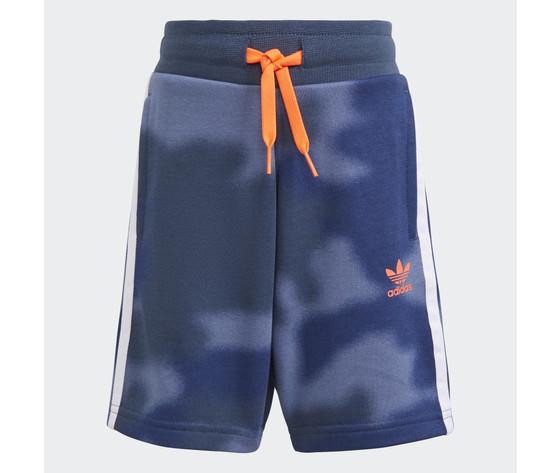 Adidas originals completo bambino t shirt pantaloncino bianco blu logo arancio large trefoil camo print art. gn4123 2