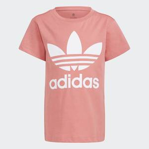 Adidas Originals T-Shirt Rosa Bambina Large Trefoil Bianco art. GN8205