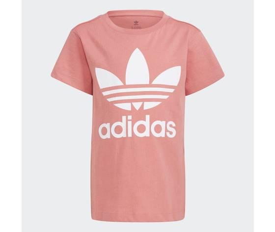 Adidas originals t shirt rosa bambina large trefoil bianco art. gn8205