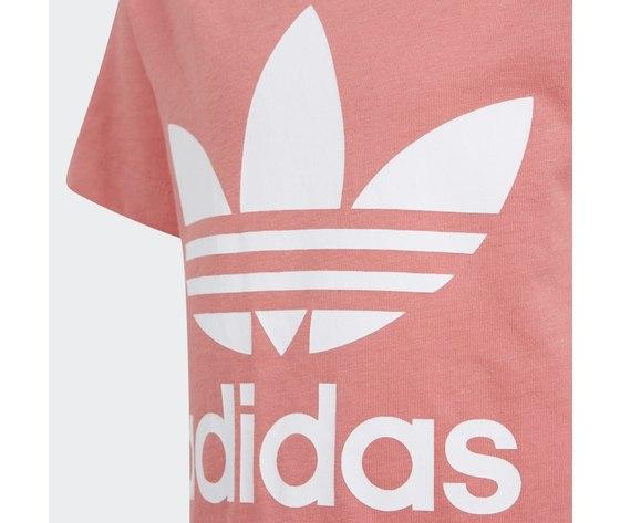 Adidas originals t shirt rosa bambina large trefoil bianco art. gn8205 2
