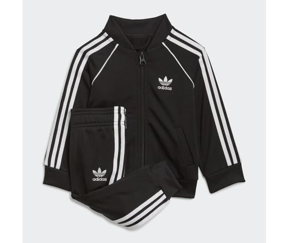 Adidas originals completo tuta bianco e nero bambino track suit adicolor sst art. gn8441