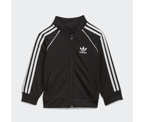 Adidas originals completo tuta bianco e nero bambino track suit adicolor sst art. gn8441 5