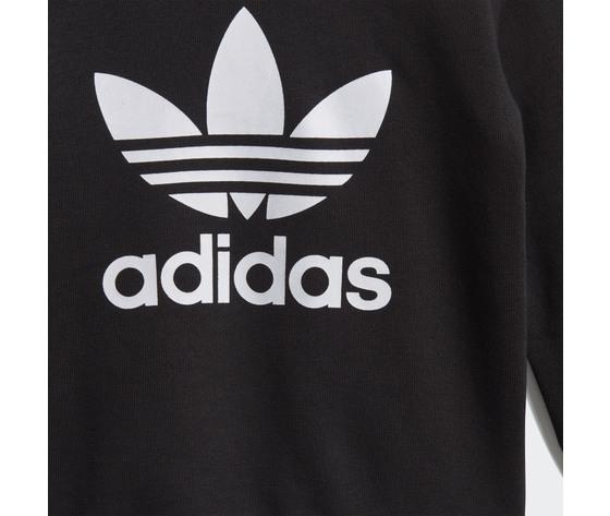 Adidas originals completo tuta bambino nera in spugna crew sweatshirt art. ed7679 1