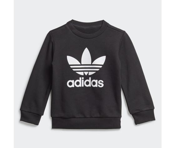 Adidas originals completo tuta bambino nera in spugna crew sweatshirt art. ed7679 5