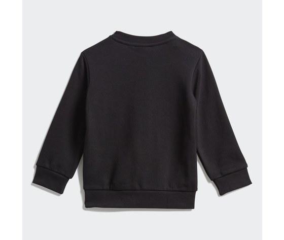Adidas originals completo tuta bambino nera in spugna crew sweatshirt art. ed7679 4