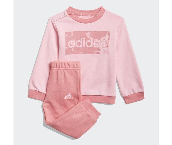 Adidas essentials completo bambina rosa felpa e pantaloni art. gn3949