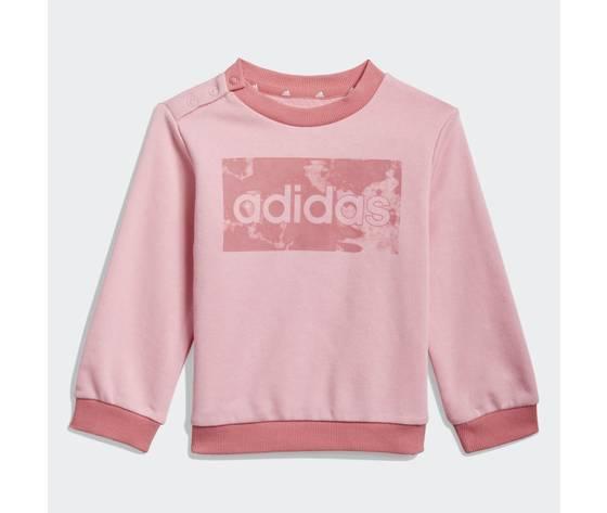 Adidas essentials completo bambina rosa felpa e pantaloni art. gn3949 1