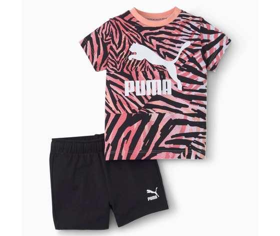 Completo bambini puma zebrato rosa nero minicats classics art. 530043 026 %282%29