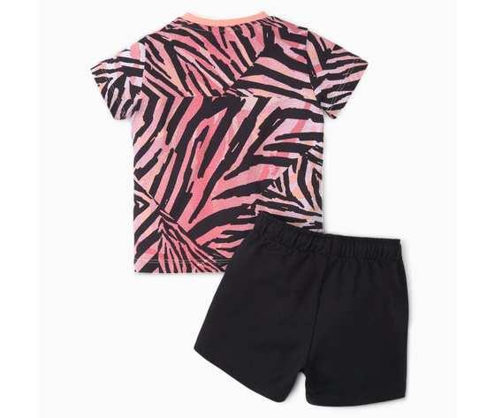 Completo bambini puma zebrato rosa nero minicats classics art. 530043 026 %281%29