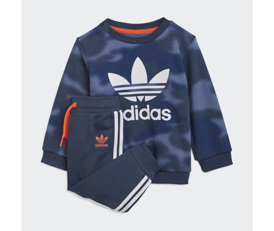 Adidas originals tuta bambino blu camouflage allover print camo crew art. gn4109