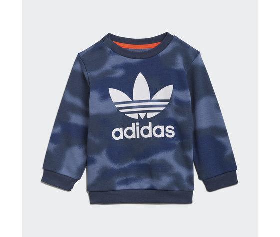Adidas originals tuta bambino blu camouflage allover print camo crew art. gn4109 1