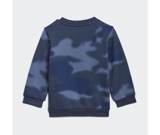 Adidas originals tuta bambino blu camouflage allover print camo crew art. gn4109 2