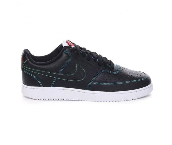 Nike court vision low uomo nere cuciture multicolor art. cd5463 006